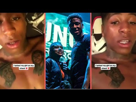 NBA YoungBoy Gets His Girlfriend Jania Face Tatted On His Chest