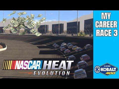 Earning Those Big Bucks In Vegas | Nascar Heat Evolution My Career Race 3 |
