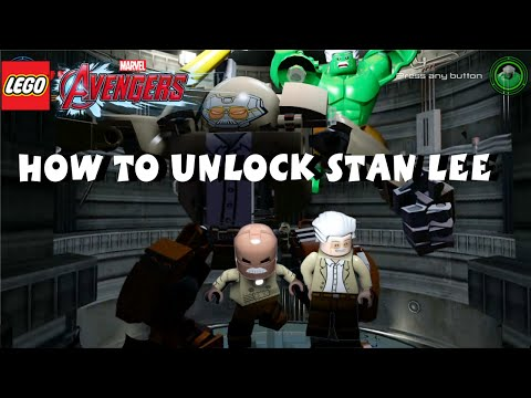 Lego Marvel Avengers  - How to Unlock Stan Lee - All 35 Stan Lee in Peril Locations -  1080P HD