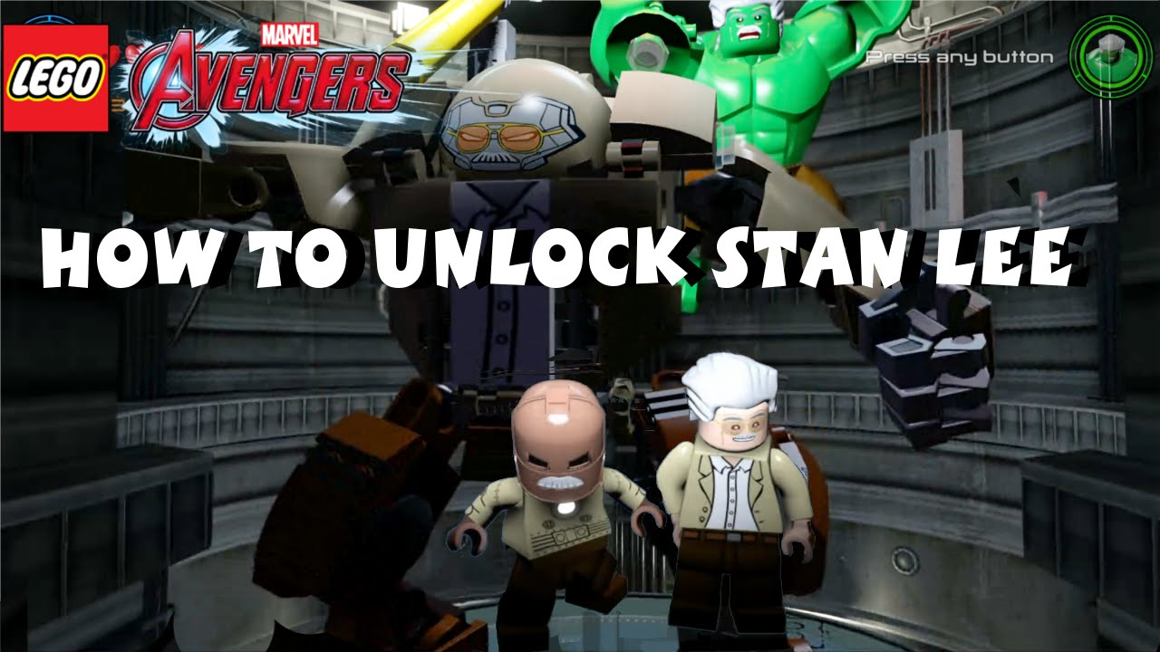 Lego Marvel Avengers How To Unlock Stan Lee All 35