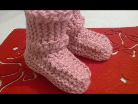 Вязание спицами для детей носки и пинетки