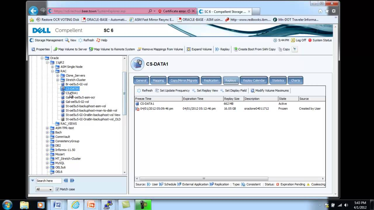 Dell Compellent Oracle Demo - RAC Clone with Storage Center