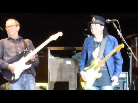 Carlos Santana & Eric Clapton - together! Hyde pk, London 8th July 2018