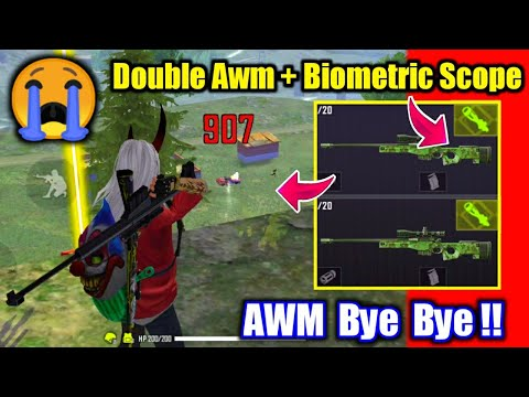 New Update Double AWM with Biometric Scope🤯🔥ये क्या किया Garena😭!!
