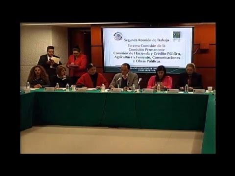 Reunión de la Tercera Comisión con aspirantes al Banco de México