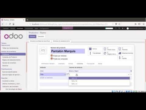 Sistema Odoo - Autogeneración de código de barras de productos