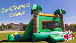Dual Tropical Combo - Inflatable Dual Bounce And Slide | Magic Jump, Inc.