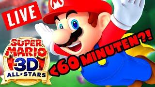 🔴 3D ALLSTARS Speedrun! Super Mario 64 unter 1 STUNDE?!