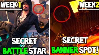 WEEK 1 and 2 SECRET Battle Star and BANNER Locations! - Fortnite Season 8