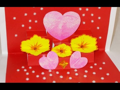 DIY PopUp Cards How to Make Beautiful Greeting Card For – Valentine Cards Designs