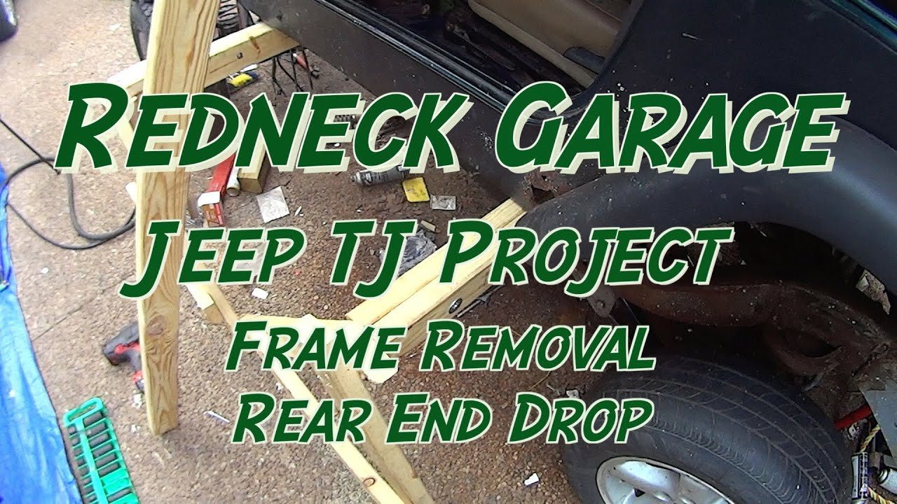 hight resolution of jeep wrangler tj project cab support tub removal from frame