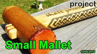 Project 9: A Small Wooden Joiner's Mallet W/ Leather And Elm Facing