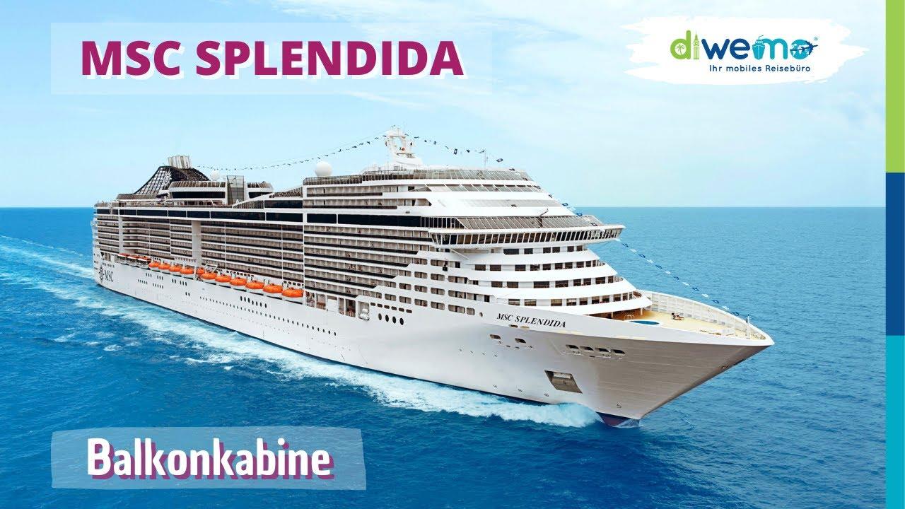 MSC Splendida von MSC Cruises - Balkonkabine 11042 - YouTube