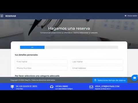 SISTEMA DE RESERVAS WEB   COMPLETO