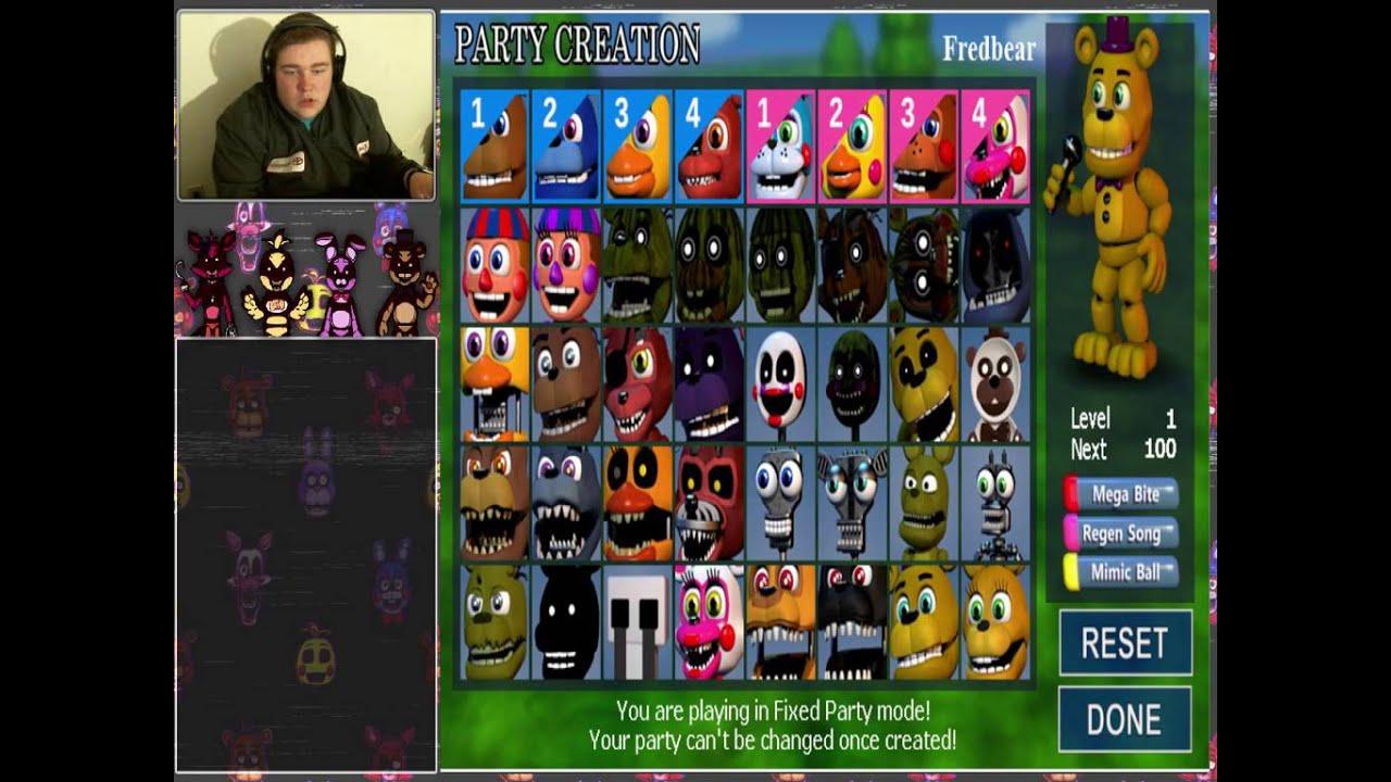 fnaf world universe ending fixed party game jolt version speedrun 0