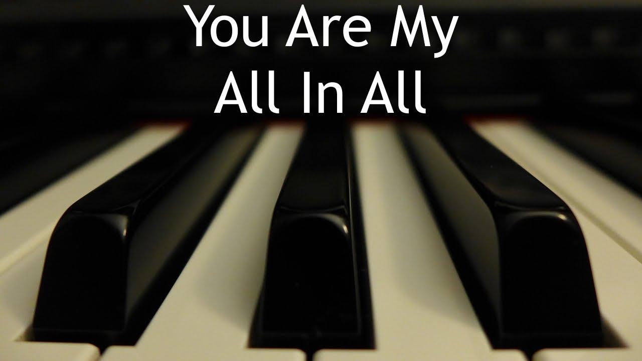 Eres mi todo | Instrumental piano - Kaleb Brasee