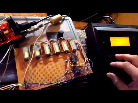 MIDI Shield + bargraph Matrix // 1st test with Roland SC155 // Video 1 (Arduino)