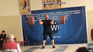 Simon Martirosyan (+109kg) 240 kg clean at 2019 🇦🇲 WC