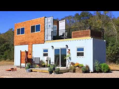 Гостевой летний домик сделанный из 20-ти футового контейнера - YouTube