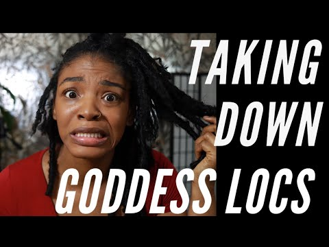 How to takedown your Goddess Locks ( The fast easy way )