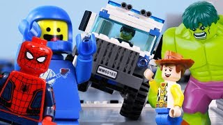 LEGO City (Compilation) STOP MOTION LEGO Toy Story, Spiderman, Hulk & More | LEGO | Billy Bricks