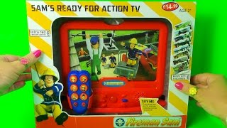 FIREFIGHTER FIREMAN SAM'S READY FOR ACTION TOY TV GAME UNBOXING