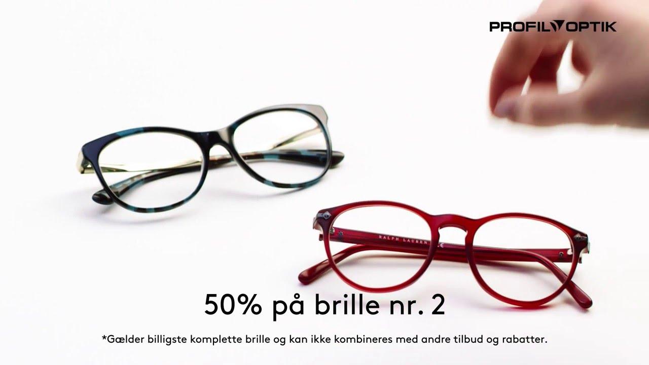 255ec3966c19 Altid hos Profil Optik - 50% på brille nr. 2 til dig - YouTube