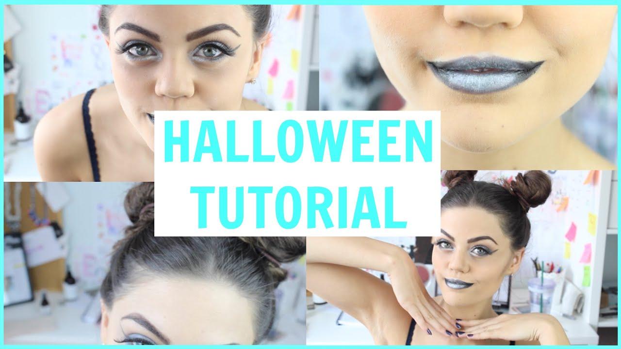 metallic space girl | halloween tutorial - youtube