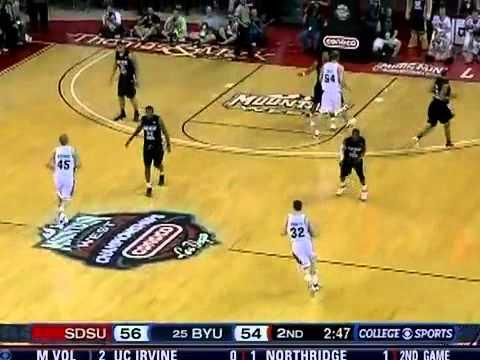 NCAA Basketball San Diego State.vs BYU - Final 6 Minutes