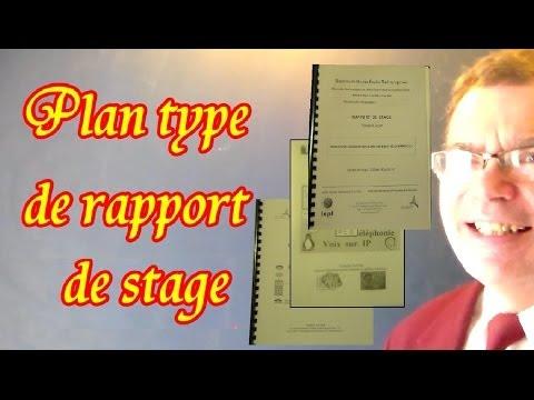Rapport De Stage Exemple 1 Plan Type Modèle Du Rapport De