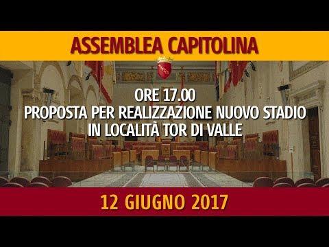 Assemblea Capitolina del 12 giugno 2017 dalle ore 17.00 alle ore 21.00