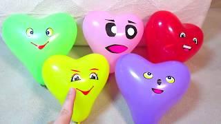 Слизь Лизун Поем песню Семья пальчиков На русском Сборник Учим цвета Развивающее видео Для детей