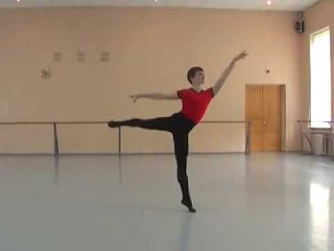 A little rehearsal. Ballet lessons