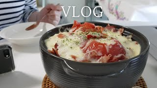 Vlog 자취생 브이로그 | 토마토 뚝배기밥과 오이샐러…
