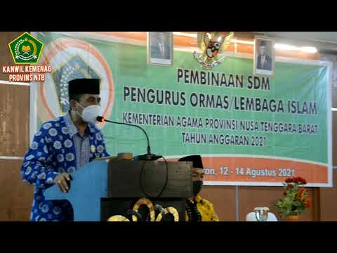 Pembinaan SDM Pengurus Ormas / Lembaga Islam Kanwil Kemenag Prov. NTB