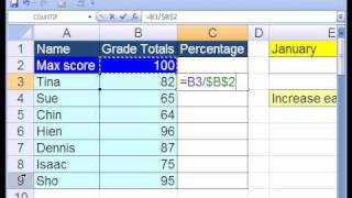 Excel Basics #8: Cell References Relative & Absolute