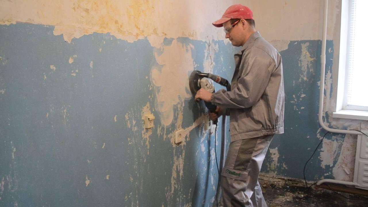 Средство для удаления краски с железобетонной стены басснйновая мастика