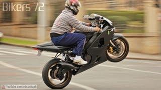 Bikers 72 - Suzuki Burnout & Wheelie, Honda CBR Yamaha R1 R6 BMW S1000RR Z800 & more Superbikes!