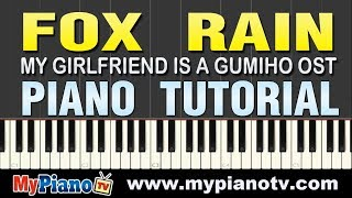 [Piano Tutorial] Lee Sun Hee 이선희 - Fox Rain 여우비 (My Girlfriend is a Gumiho OST)