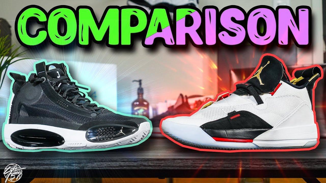 Air Jordan 34 & Air Jordan 33 Comparison!