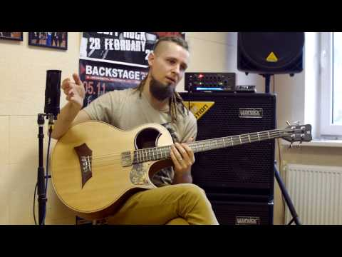 Percussive acoustic bass Lesson / Seven Nation Army / Dmitry Lisenko