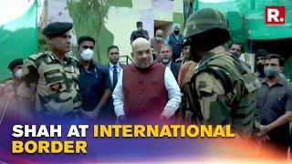 J&K: Home Minister Amit Shah Visits International Border; BSF ADG Briefs On Pak Terror Tunnel Module