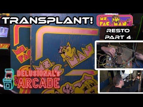 Ms. Pac-man Restoration Part 4 [Cabinet Swap]