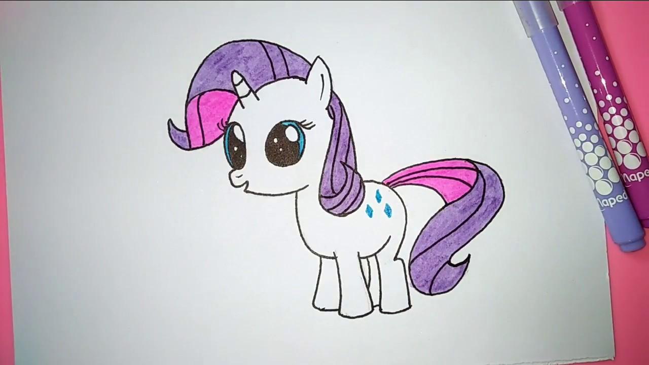Rarity mari belajar menggambar dan mewarnai my little pony rarity