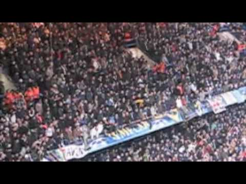 Inter fans at Chelsea, singing Samuel Eto'o n having fun