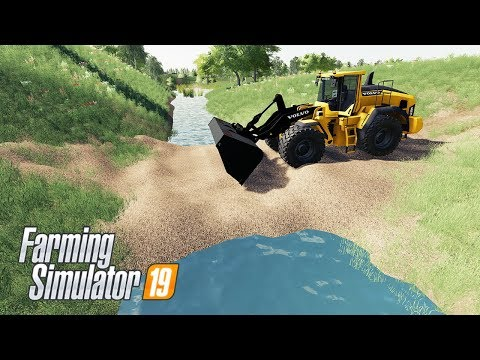 Building A Bridge - Farming Simulator 19 Mods - LS19 Volvo L220H Road Repair