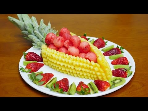 How to CUT, SLICES and DECORATE FRUIT By J. Pereira Art Carving Fruit and Vegetables