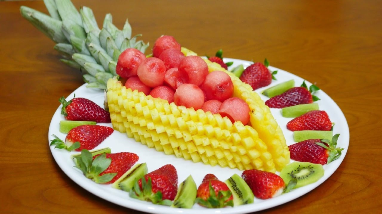 How to cut slices and decorate fruit by j pereira art - How to slice strawberries for decoration ...