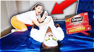 ORAJEL NUMBING PRANK ON BOYFRIEND!!!