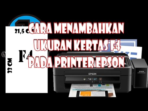 VIDEO CARA MENAMBAHKAN UKURAN KERTAS F4 PADA PRINTER EPSON L120 & L110..